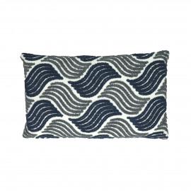 ATLAS - coussin - coton - L 50 x W 30 cm - bleu