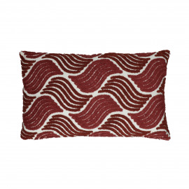 ATLAS - coussin - coton - L 50 x W 30 cm - rouge