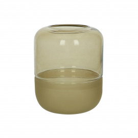 CONRAN - vase - glass - DIA 14,5 x H 19 cm - amber