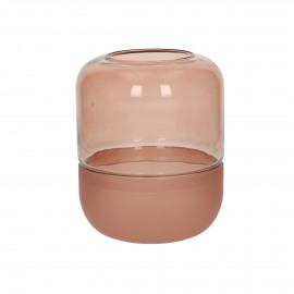 CONRAN - vase - glass - DIA 14,5 x H 19 cm - rust
