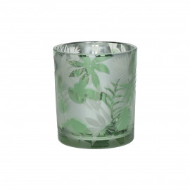 JUNGLE - photophore - verre - DIA 8,8 x H 10 cm