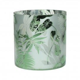 JUNGLE - photophore - verre - DIA 15 x H 15 cm