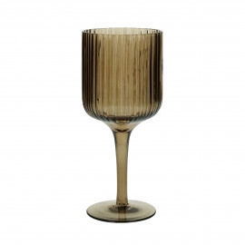 CANISE - red wine glass - glass - DIA 7,5 x H 17,5 cm - amber