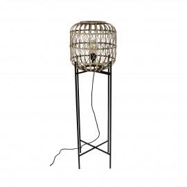 QUINTA - vloerlamp - bamboe / metaal - DIA 33 x H 122 cm