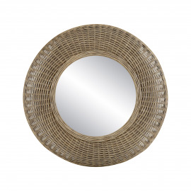 WICKAR - spiegel - rotan / spiegelglas - DIA 80 x H 9 cm