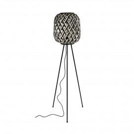 SIEBRA - lampadaire - bambou / métal - DIA 35 x H 140 cm
