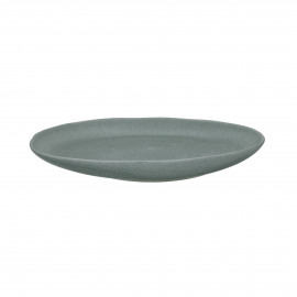 GALET - dinner bord - stoneware - L 26,5 x W 20 x H 3,2 cm - Grijs blauw