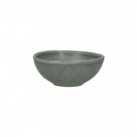 GALET - kom - stoneware - L 11 x W 10 x H 4,5 cm - Grijs blauw
