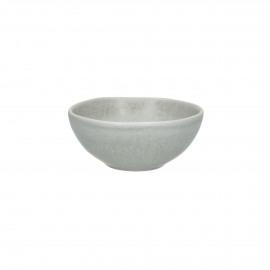GALET - kom - stoneware - L 11 x W 10 x H 4,5 cm - Grijs/beige