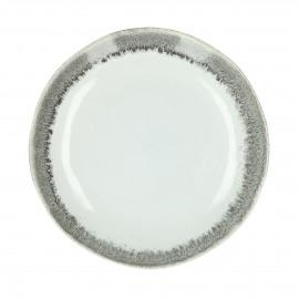 GUSTO - dinner bord - stoneware - DIA 28 x H 3 cm - Grijs