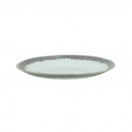GUSTO - dessert bord - stoneware - DIA 23 x H 3 cm - Grijs