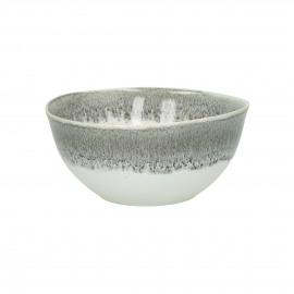 GUSTO - kom - stoneware - DIA 16,5 x H 8 cm - Grijs