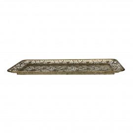 LIEF - dienblad - metaal - L 48 x W 26 x H 3 cm - Goud