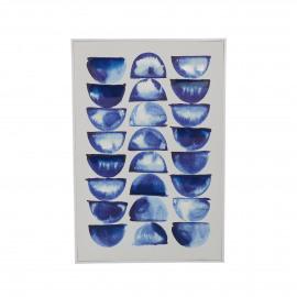 STAMP - canvas - linnen - L 62 x W 4 x H 92 cm - Blauw