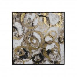 NERON - canvas - linnen - L 82 x W 4 x H 82 cm - goud