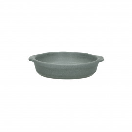 GALET - oven dish - stoneware - DIA 16 x H 4 cm - grey blue