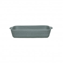 GALET - oven dish - stoneware - L 26 x W 16 x H 5 cm - grey blue