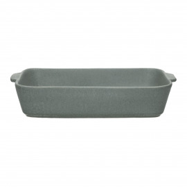 GALET - oven dish - stoneware - L 33 x W 21 x H 6,5 cm - grey blue