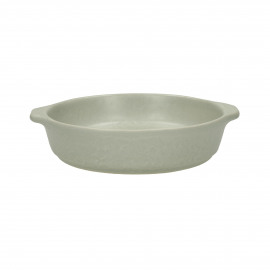 GALET - oven dish - stoneware - DIA 16 x H 4 cm - greige