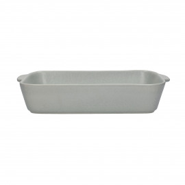 GALET - oven dish - stoneware - L 33 x W 21 x H 6,5 cm - greige