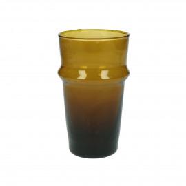 MITI - water glas - glas - L 6 x W 6 x H 10,5 cm - amber