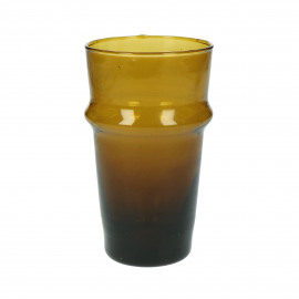 MITI - long drink glass - glass - L 7,4 x W 7,4 x H 13 cm - amber