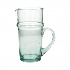 MITI - pitcher - glass - L 10,2 x W 10,2 x H 20 cm - clear