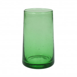 MIRA - long drink glass - glass - L 6 x W 6 x H 12 cm - green