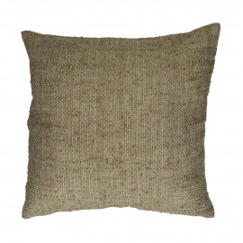 SHIKHA - coussin - lin / viscose - L 45 x W 45 cm - beige
