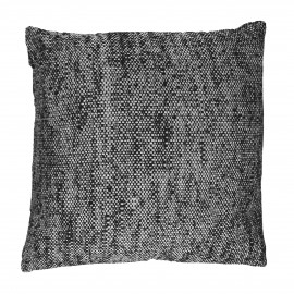 SHIKHA - cushion - linen / viscose - L 45 x W 45 cm - black