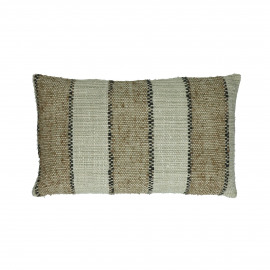 SHIKHA - cushion - stripes - linen / viscose - L 30 x W 50 cm