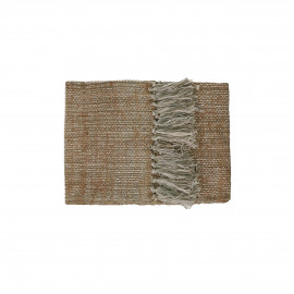 SHIKHA - set/2 table runners - linen / viscose - L 140 x W 40 cm - beige