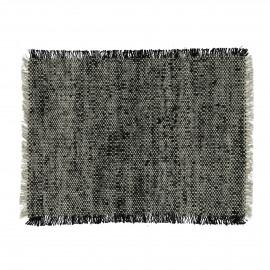SHIKHA - set/4 set de table - lin / viscose - L 48 x W 33 cm - noir