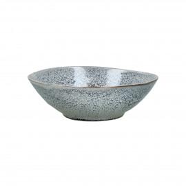 FLOCON - soepkom - stoneware - DIA 18,5 x H 5,5 cm - blauw