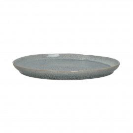 FLOCON - dessert plate - stoneware - DIA 21 cm - blue