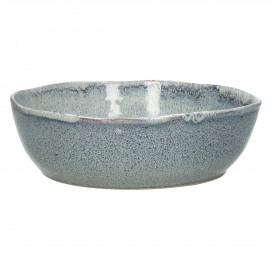 FLOCON - slakom - stoneware - DIA 22,5 x H 7,5 cm - blauw