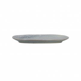 FLOCON - oval dish - stoneware - L 25,5 x W 12 x H 2,5 cm - blue