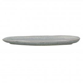 FLOCON - oval dish - stoneware - L 35 x W 14 x H 2 cm - blue
