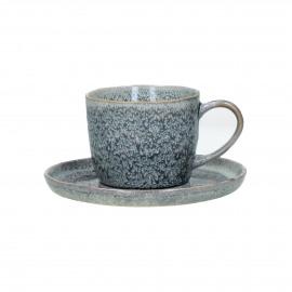 FLOCON - cup & saucer - stoneware - DIA 8 / 14,50 x H 8 cm - blue