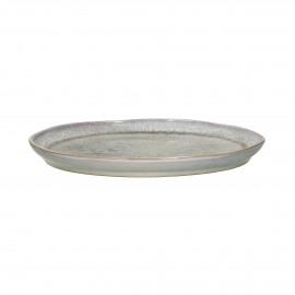FLOCON - dessert plate - stoneware - DIA 21 cm - taupe