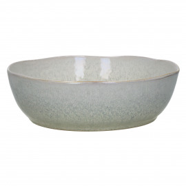 FLOCON - salad bowl - stoneware - DIA 22,5 x H 7,5 cm - taupe
