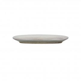 FLOCON - oval dish - stoneware - L 25,5 x W 12 x H 2,5 cm - taupe