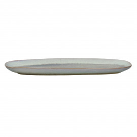 FLOCON - oval dish - stoneware - L 35 x W 14 x H 2 cm - taupe