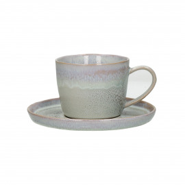 FLOCON - cup & saucer - stoneware - DIA 8 / 14,50 x H 8 cm - taupe