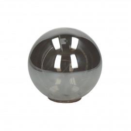 GLITTER - bulb with lightchain - battery - glass - DIA 12 cm - smoke