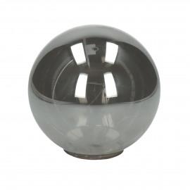 GLITTER - boule avec guirlande - batterie - verre - DIA 15 cm - smoke