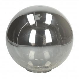 GLITTER - bulb with lightchain - battery - glass - DIA 20 cm - smoke