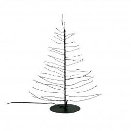 GLITTER - x-mas tree 80 leds - transfo w/timer - metal - DIA 10 x H 30 cm - black