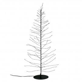 GLITTER - x-mas tree 160 leds - transfo w/timer - metal - DIA 12 x H 60 cm - black