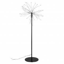 GLITTER - star lightchain on stand - transfo w/timer - iron - DIA 30 x H 50 cm - black